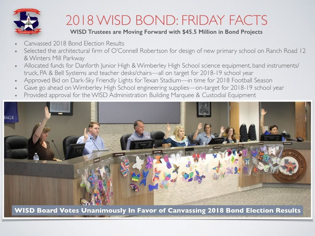 WISD Trustees are moving forward
