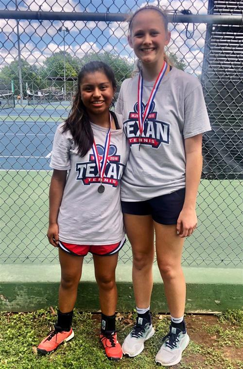 Girls Doubles Tennis